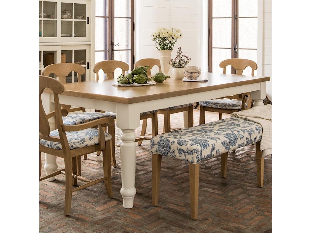 Canadel Custom Dining TREMHATF Customizable Rectangular - Custom dining room table and chairs