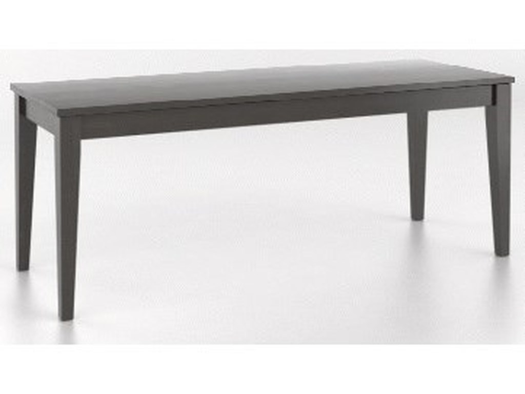 Canadel Custom DiningCustomizable Bench with Wood Seat