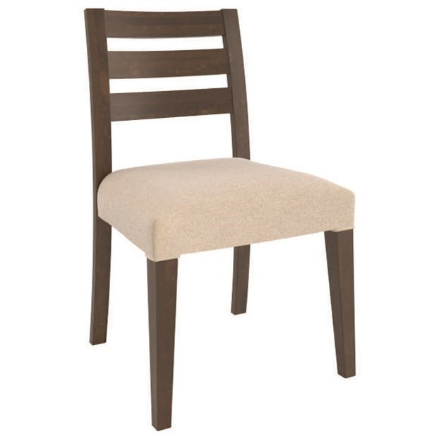 Customizable Upholstered Side Chair with Ladder Back