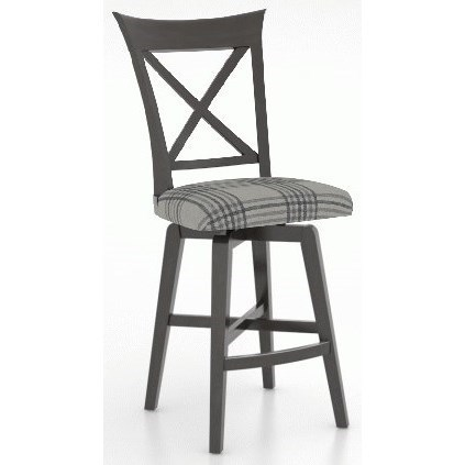 Customizable Counter Stool with Upholstered Seat
