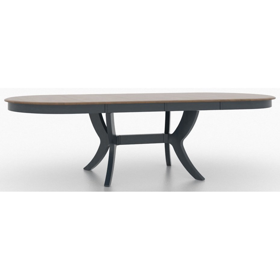 Custom Dining Customizable Oval Dining Table By Canadel