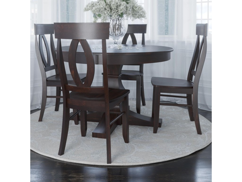 Canadel Core - Custom DiningCustomizable 5-Piece Round Dining Table Set