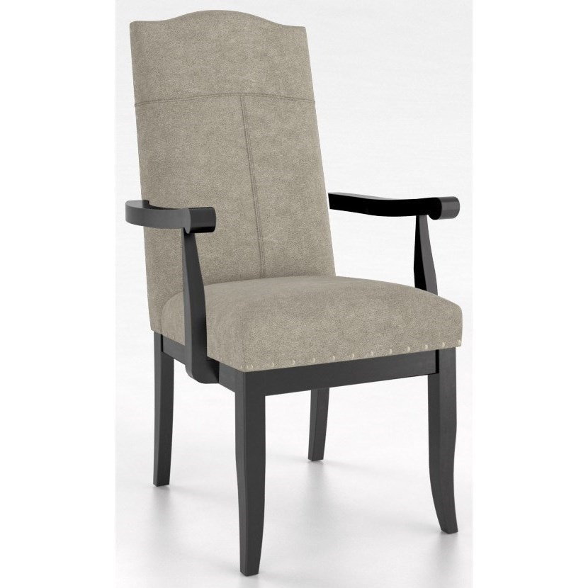 Customizable Arm Chair with Upholstered Seat and Back