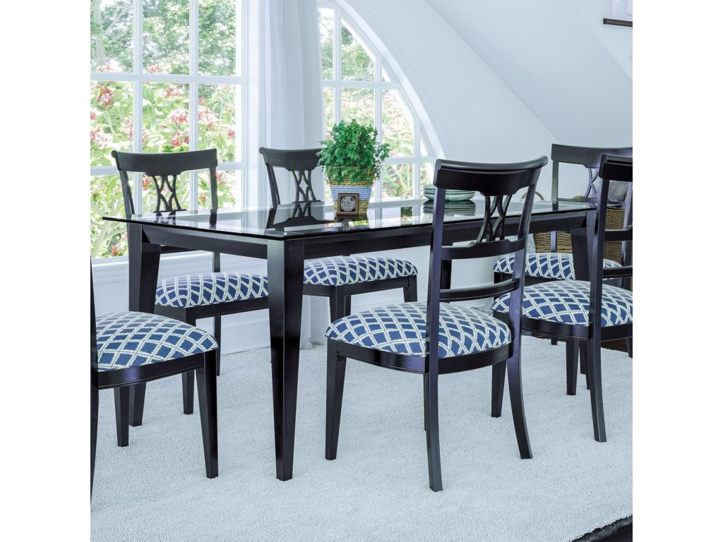Canadel Custom Dining Customizable Glass Top Dining Table | Dinette ...