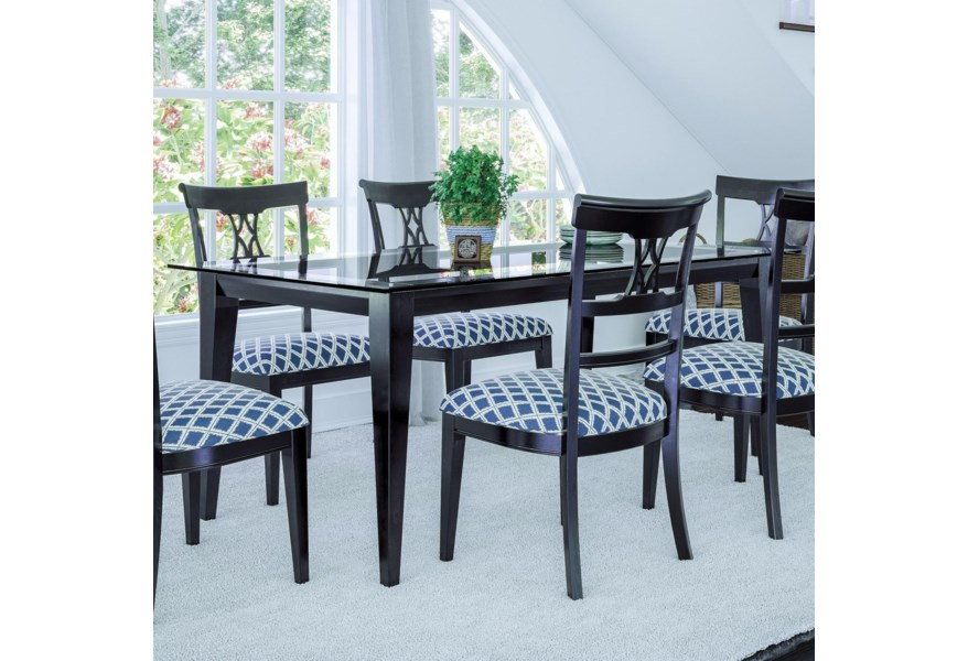 Canadel Custom Dining GRE04072CL05MGPNF Customizable Glass ...