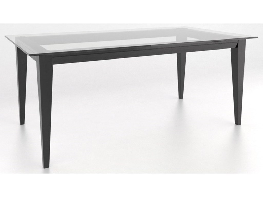 Canadel Custom DiningCustomizable Glass Top Dining Table