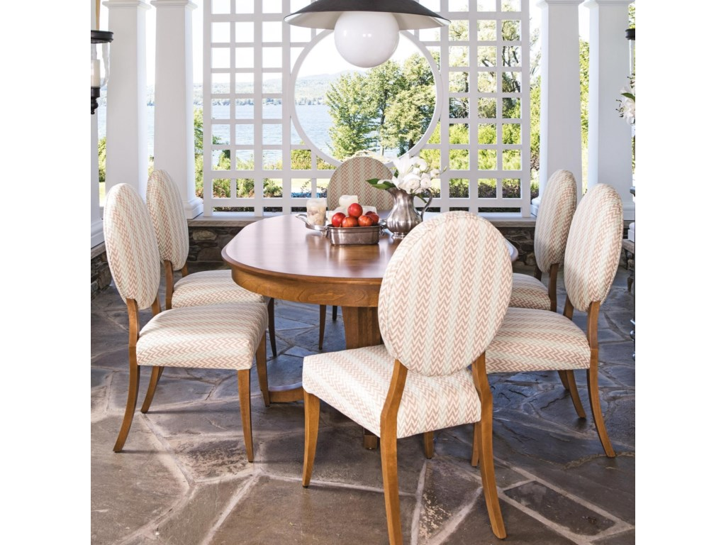 Canadel Custom Dining Customizable Oval Dining Table Set Becker - Custom kitchen table and chairs