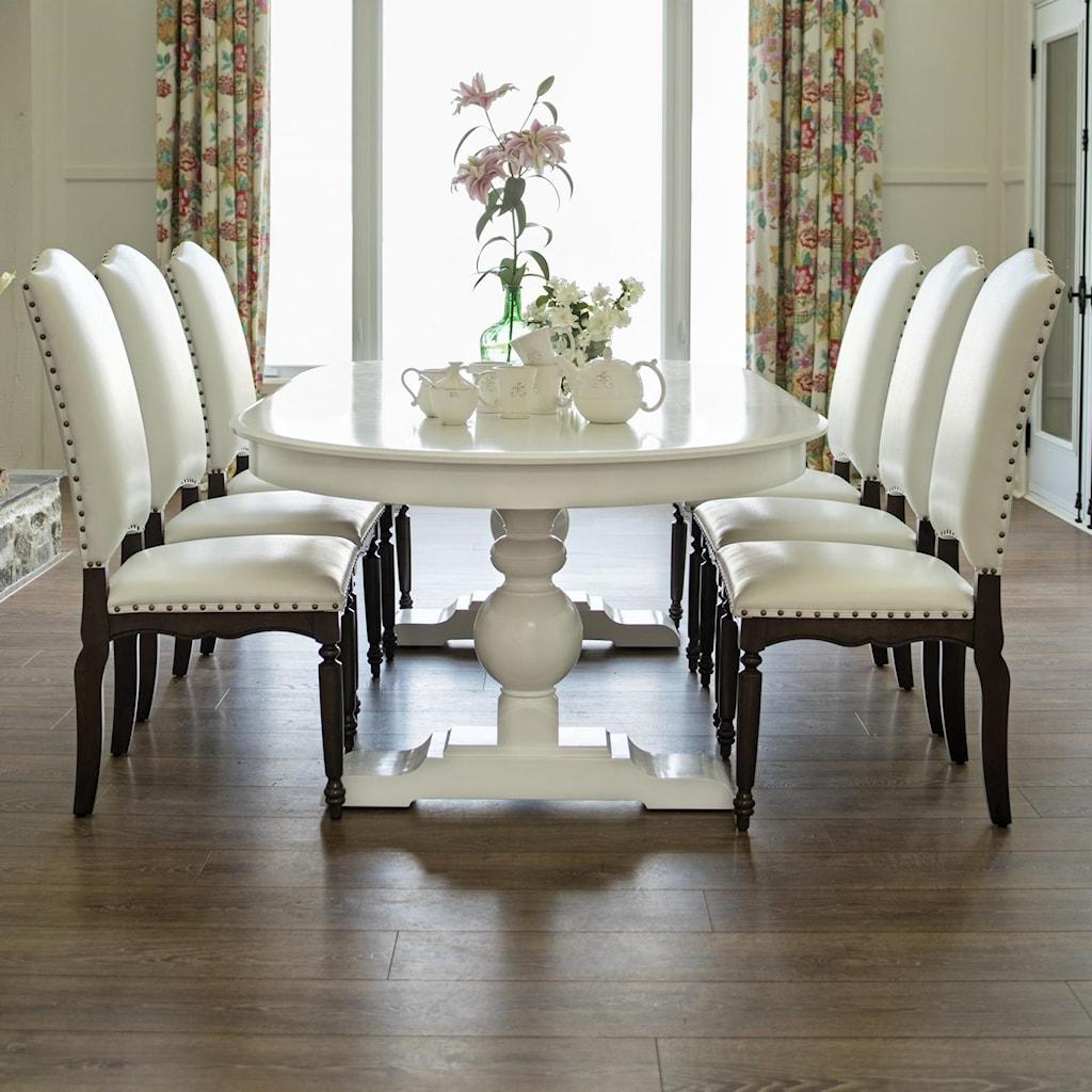 canadel custom dining customizable oval dining table set | john v