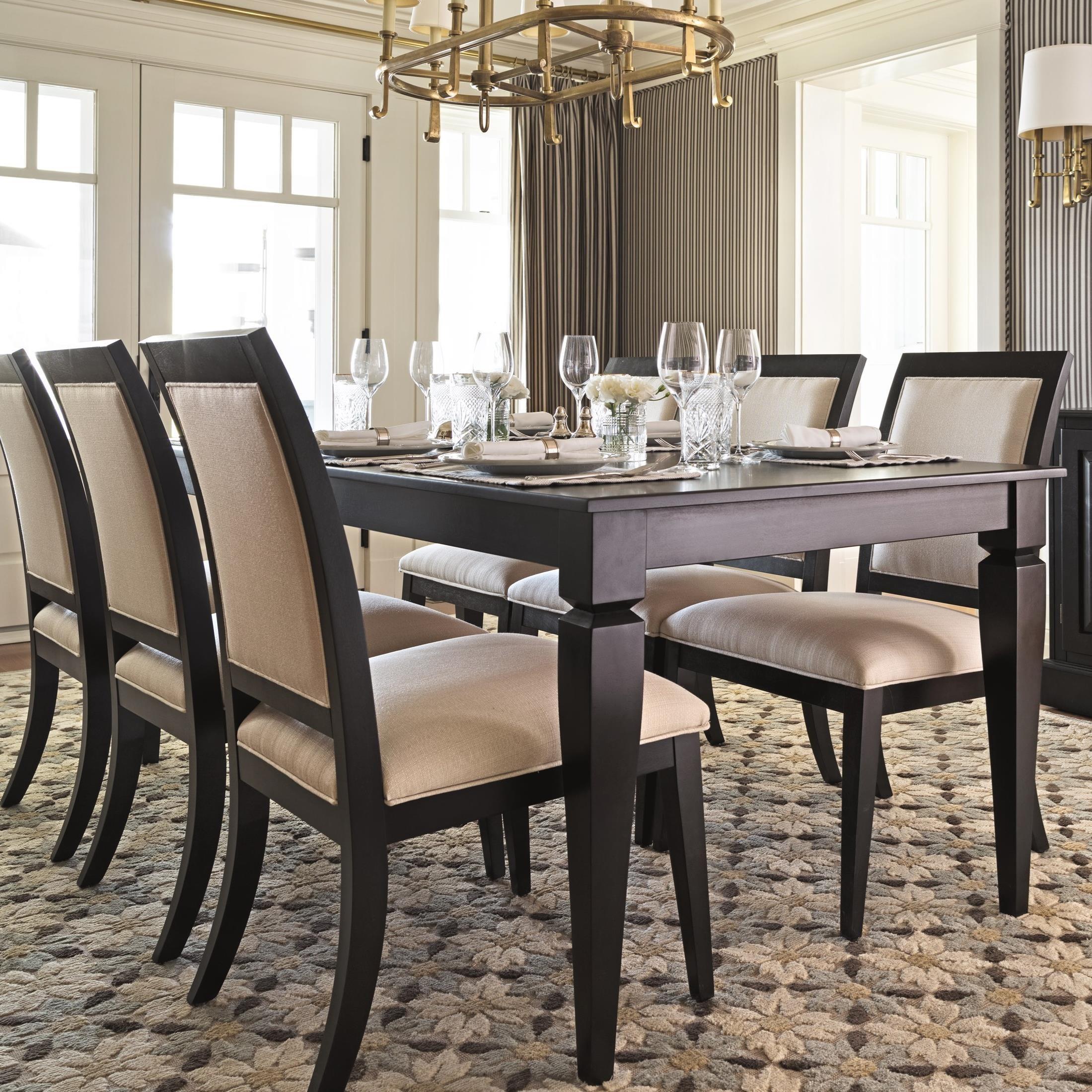 canadel custom dining customizable rectangular dining table set rh belfortfurniture com Restaurant Dining Room Luxury Dining Room