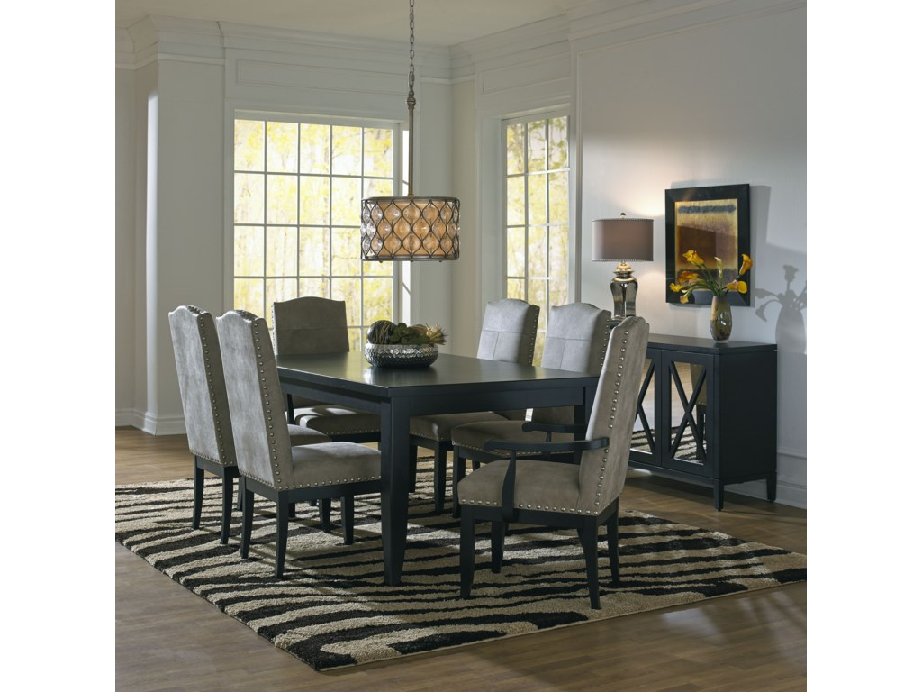 Canadel Custom Dining Customizable Rectangular Dining Table Set - Custom kitchen table and chairs
