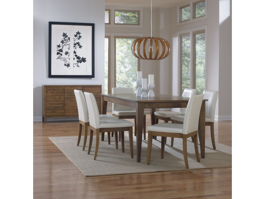 Canadel Custom DiningCustomizable Rectangular Dining Table Set