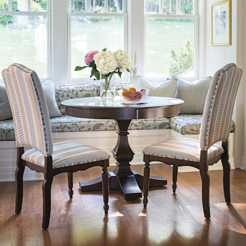 Canadel Custom Dining Customizable Round Dining Table Set Wayside - Custom kitchen table and chairs