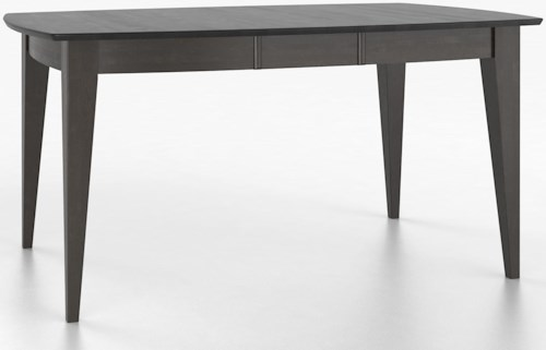 Canadel Custom Dining Tables Customizable Boat Shape Table with Legs