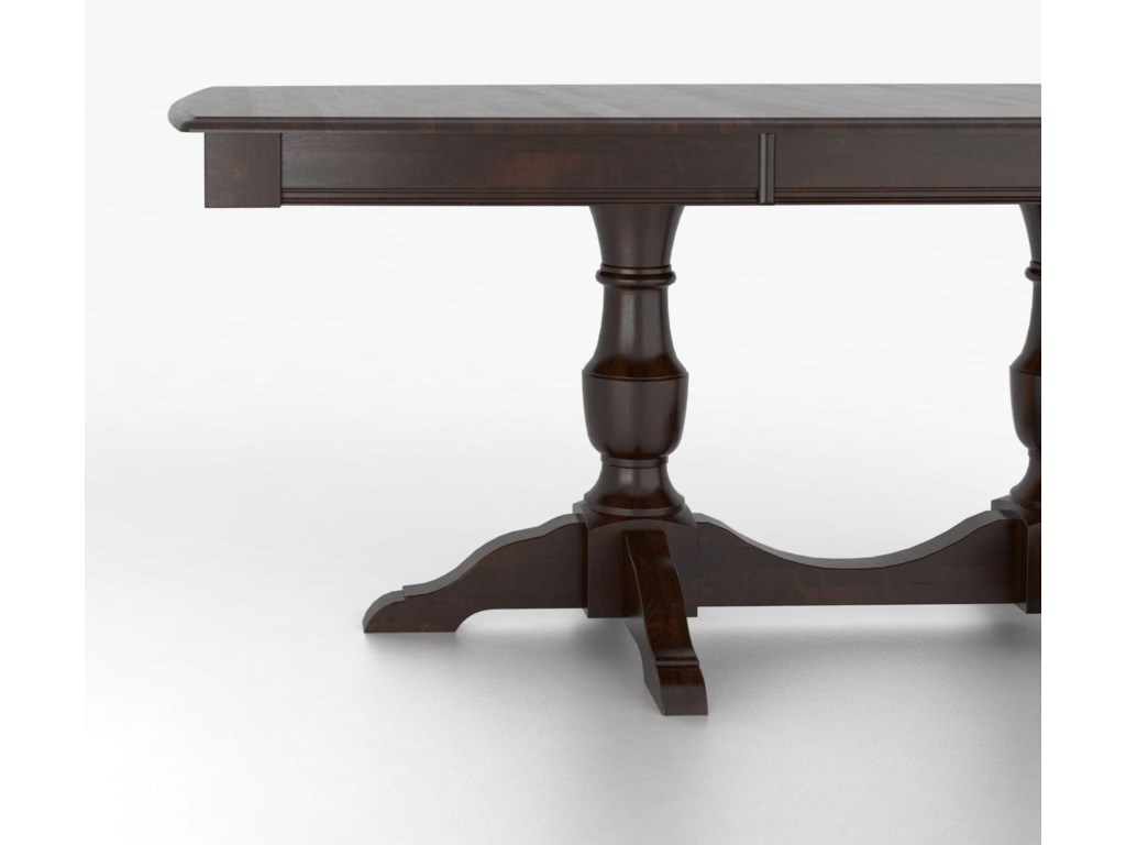 Canadel Custom Dining TablesCustomizable Boat Shape Table with Pedestal