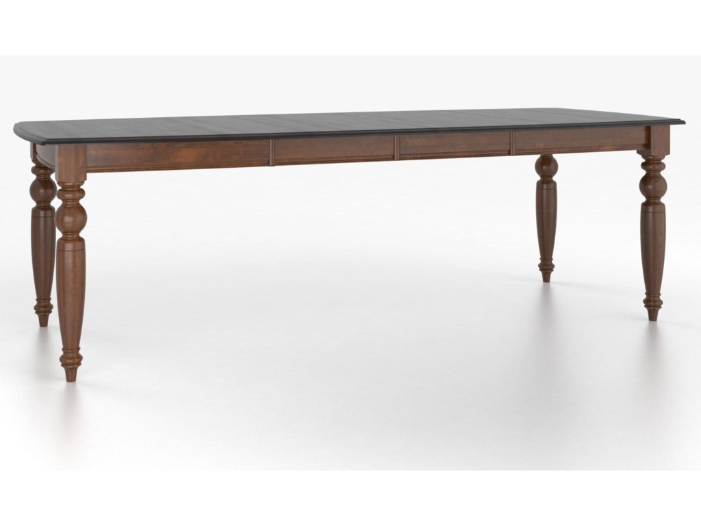 Canadel Custom Dining Tables<b>Customizable</b> Boat Shape Table w/ Legs