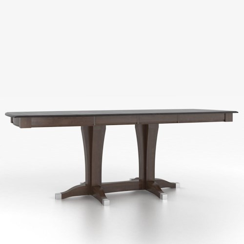Canadel Custom Dining Tables Customizable Boat Shape Counter Height Table with Pedestal