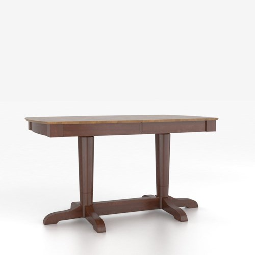 Canadel Custom Dining Counter Height Tables Customizable Boat Shape Counter Height Table with Pedestal