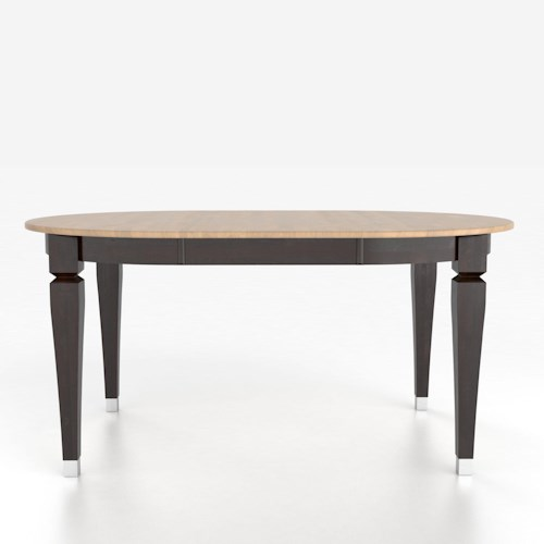 Canadel custom dining tables customizable oval table with for Custom dining room tables