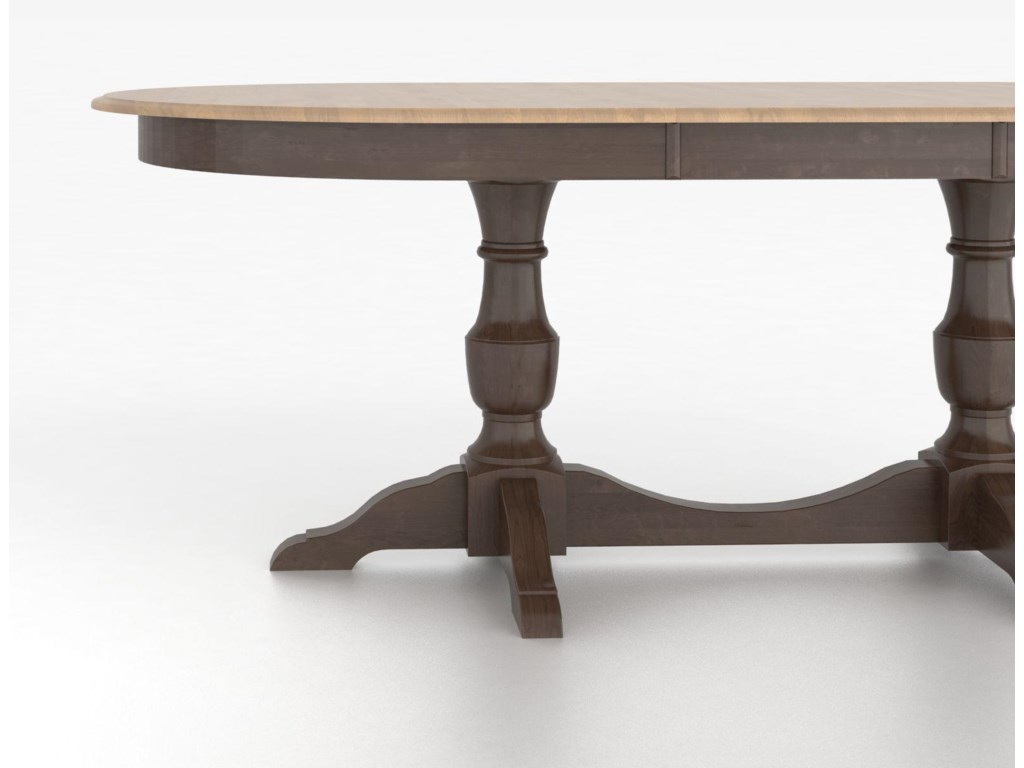 Canadel Custom Dining TablesCustomizable Oval Table with Base