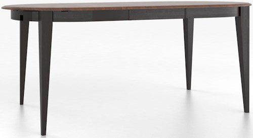Canadel Custom Dining Tables Customizable Oval Counter Height Table with Legs