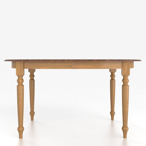 Canadel Custom Dining Counter Height Tables Customizable Oval Counter Height Table with Legs