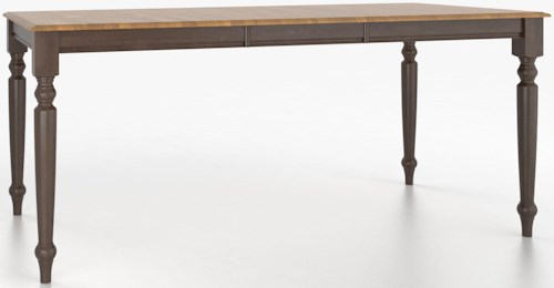 Canadel Custom Dining Counter Height Tables Customizable Rectangular Counter Height Table with Legs