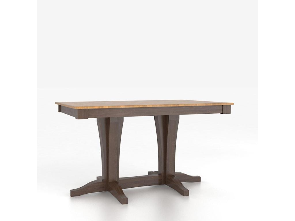 Canadel Custom Dining TablesCustomizable Rectangular Counter Table