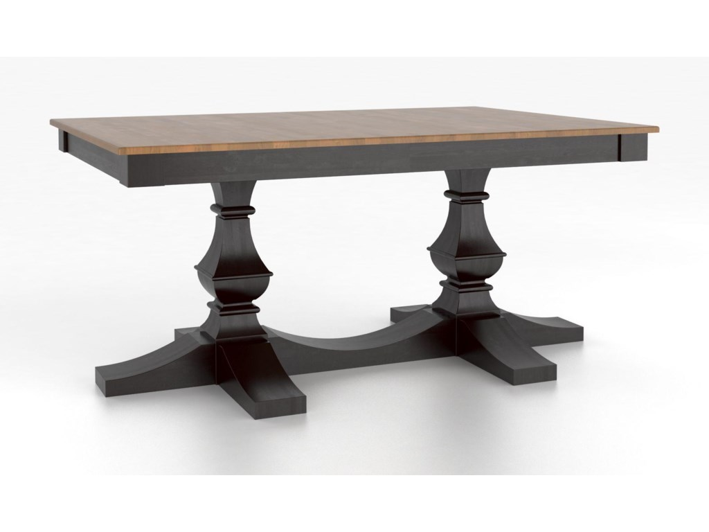 Canadel Custom Dining TablesCustomizable Rectangular Table w/ Pedestal
