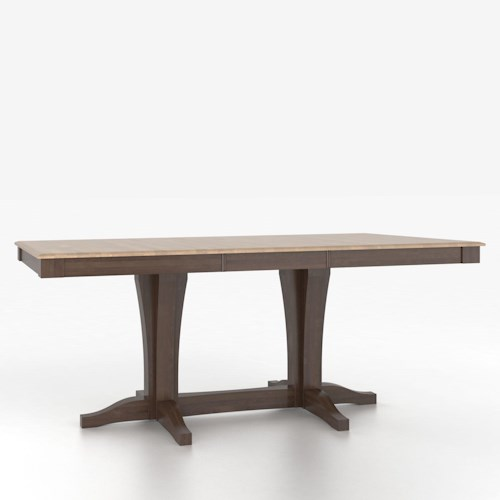 Canadel Custom Dining Tables Cusotmizable Rectangular Counter Height Table with Pedestal