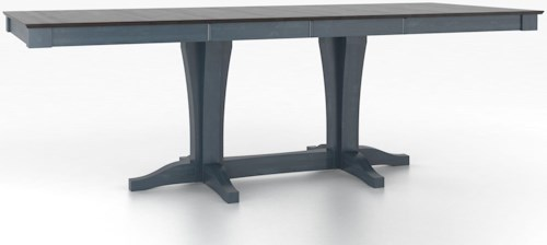 Canadel Custom Dining Counter Height Tables Customizable Rectangular Counter Height Table with Pedestal
