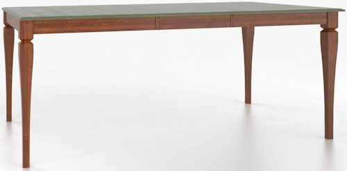 Canadel Custom Dining Tables Customizable Rectangular Counter Height Table with Legs