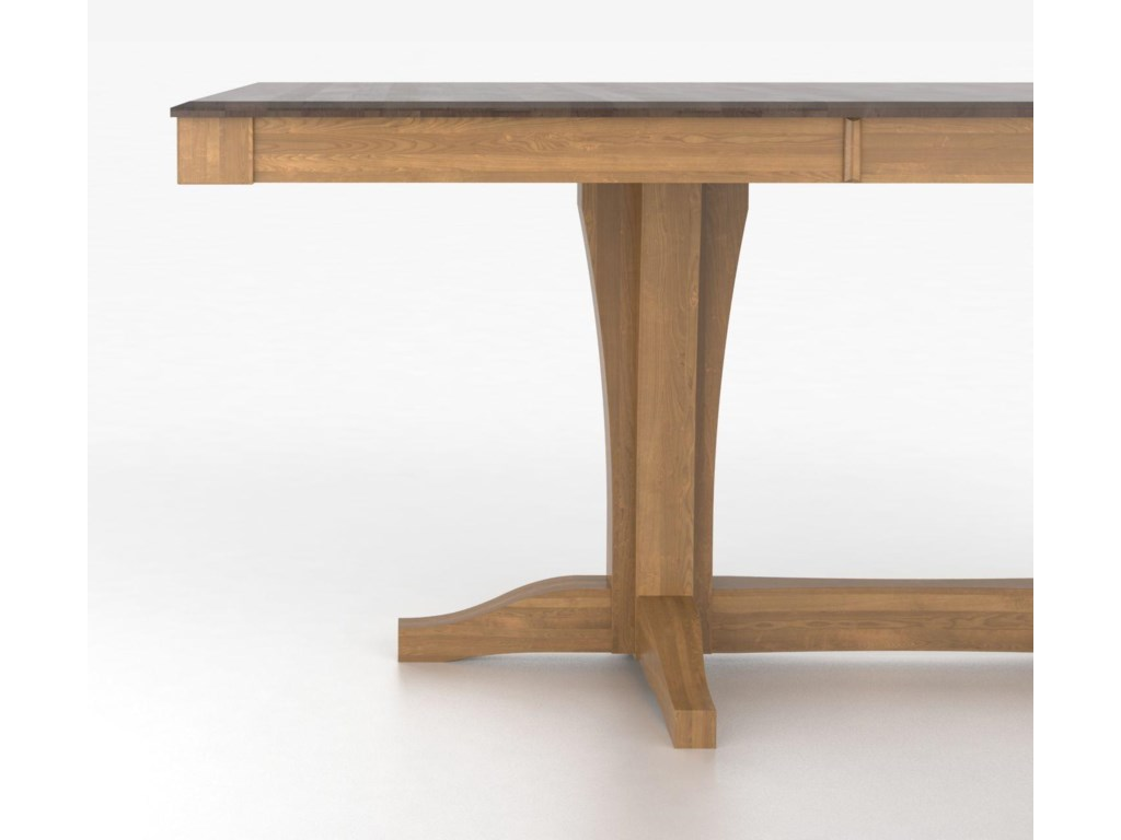 Canadel Custom Dining TablesCustomizable Rectangular Table with Pedestal
