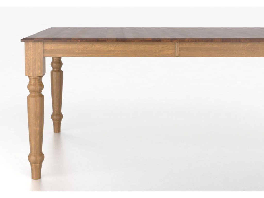 Canadel Custom Dining TablesCustomizable Rectangular Table with Legs