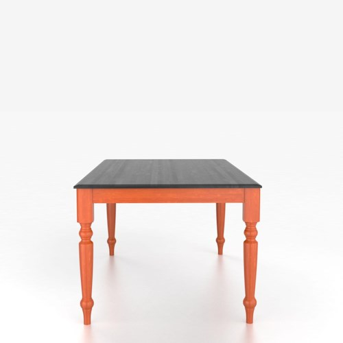 Canadel Custom Dining Tables Customizable Rectangular Table with Legs