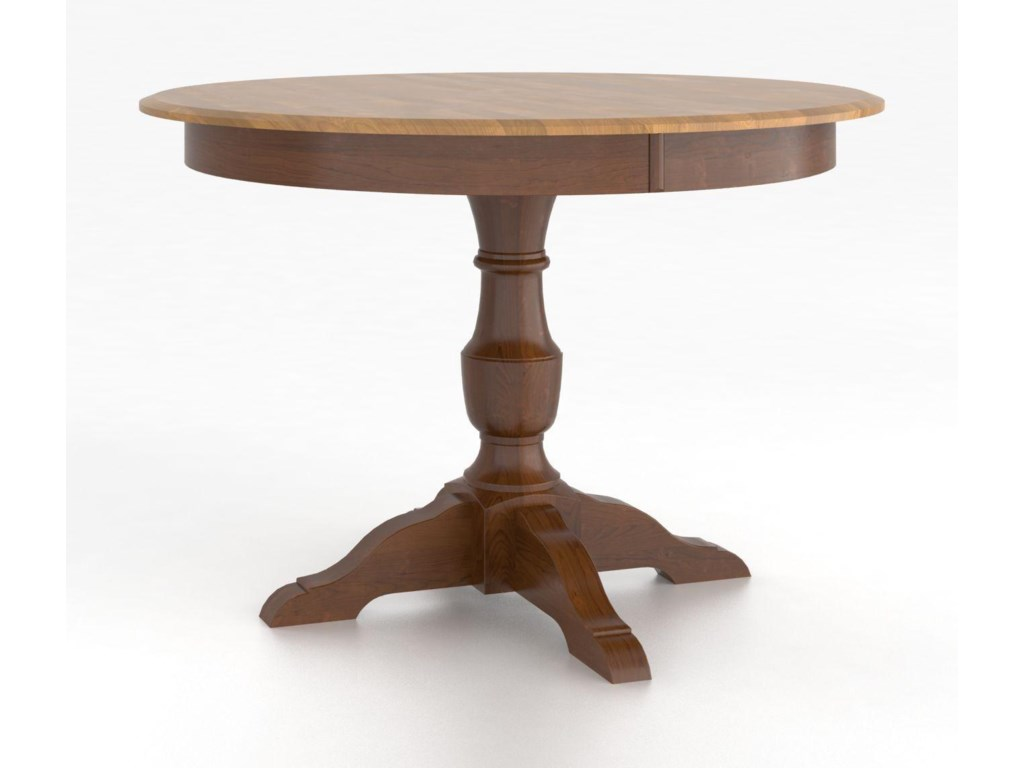 Canadel Custom Dining TablesCustomizable Round Table with Pedestal