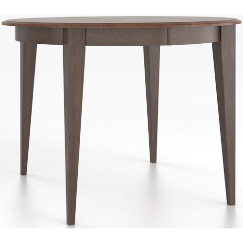 Canadel Custom Dining Counter Height Tables Customizable Round Counter Height Table with Legs