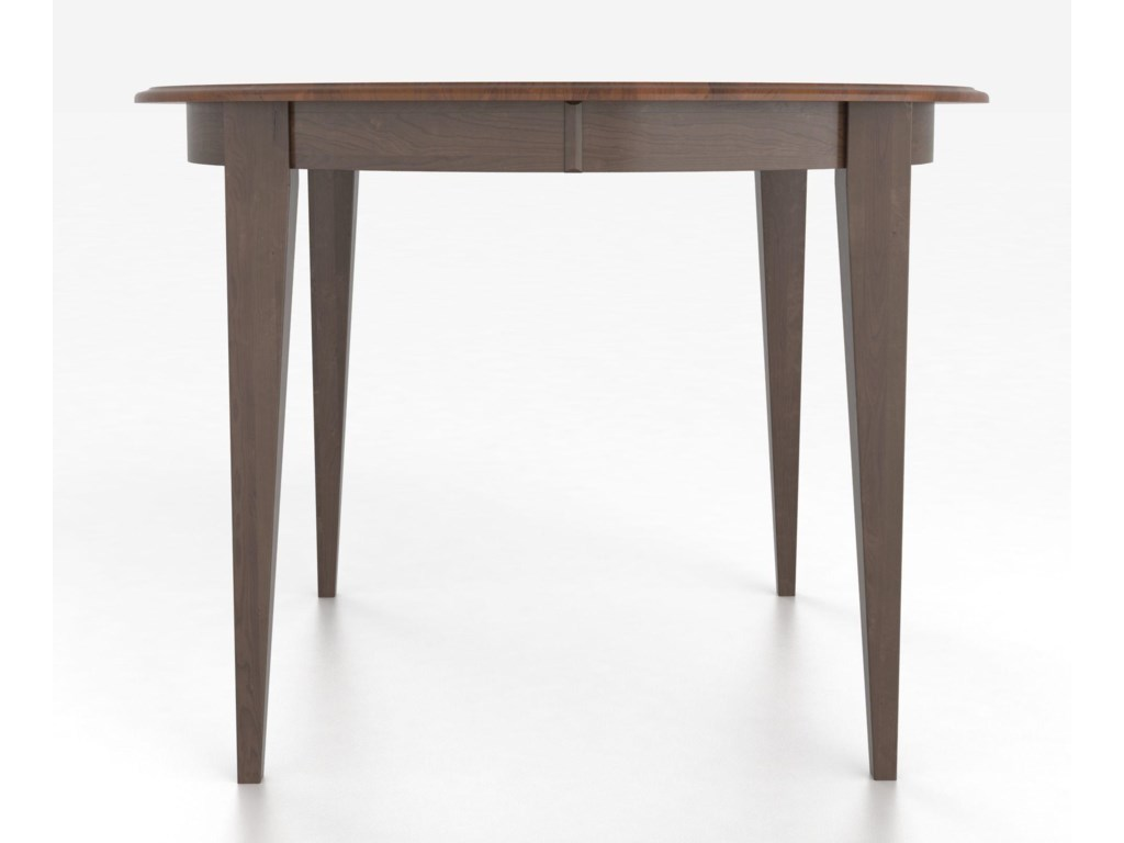 Canadel Custom Dining Counter Height TablesCustomizable Round Counter Table with Legs