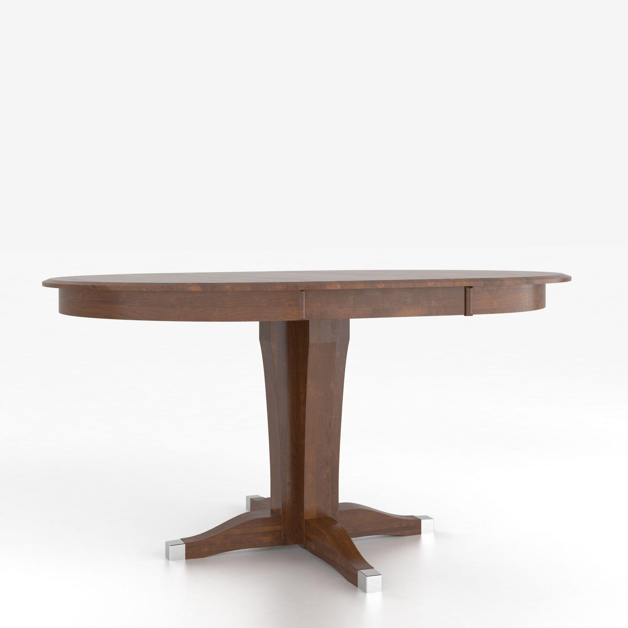 Canadel Custom Dining Counter Height TablesCustomizable Round Counter Table  W/ Pedestal ...