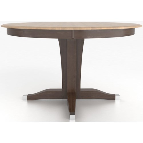 Canadel Custom Dining Counter Height Tables Customizable Round Counter Height Table with Pedestal