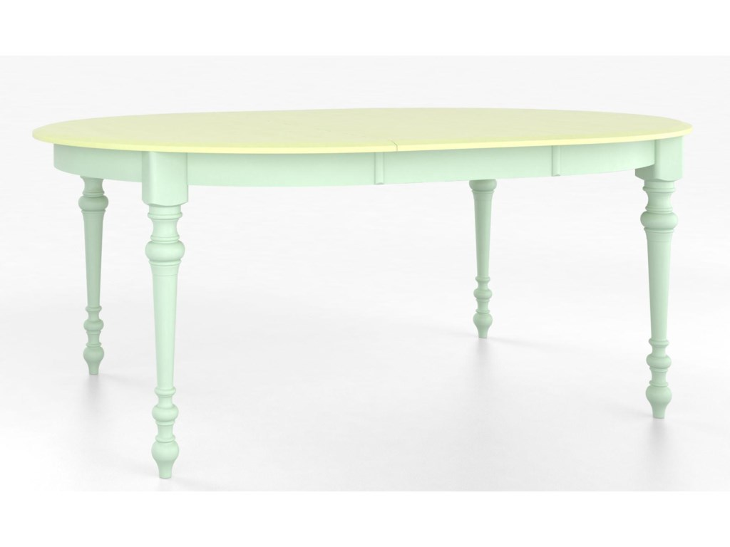 Canadel Custom Dining TablesCustomizable Round Table with Legs