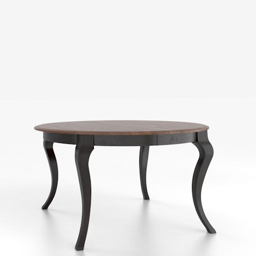 Canadel Custom Dining Tables Customizable Round Table with Legs