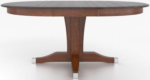 Canadel Custom Dining Tables Customizable Round Table with Pedestal