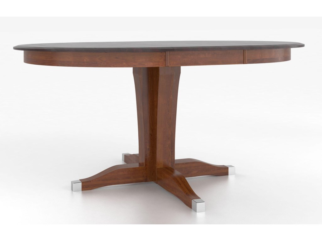 Canadel Custom Dining Counter Height TablesCustomizable Round Counter Table w/ Pedestal
