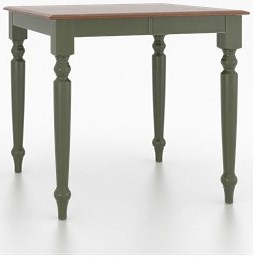 Canadel Custom Dining Counter Height Tables Customizable Square Counter Height Table with Legs