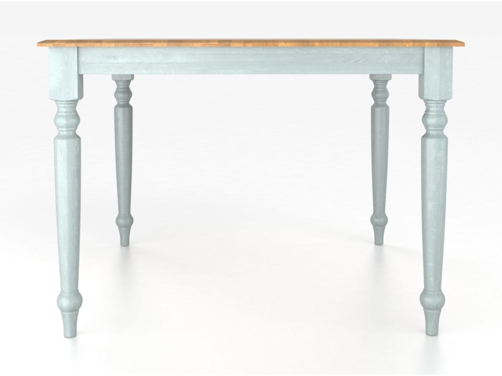Canadel Custom Dining Tables<b>Customizable</b> Square Table with Legs