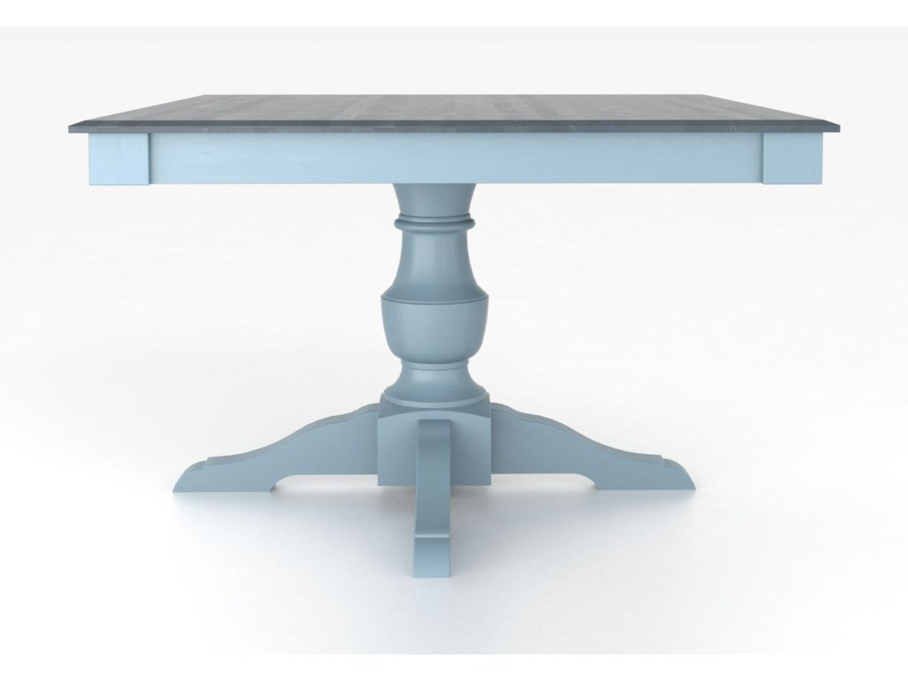 Canadel Custom Dining Tables<b>Customizable</b> Square Table w/ Pedestal