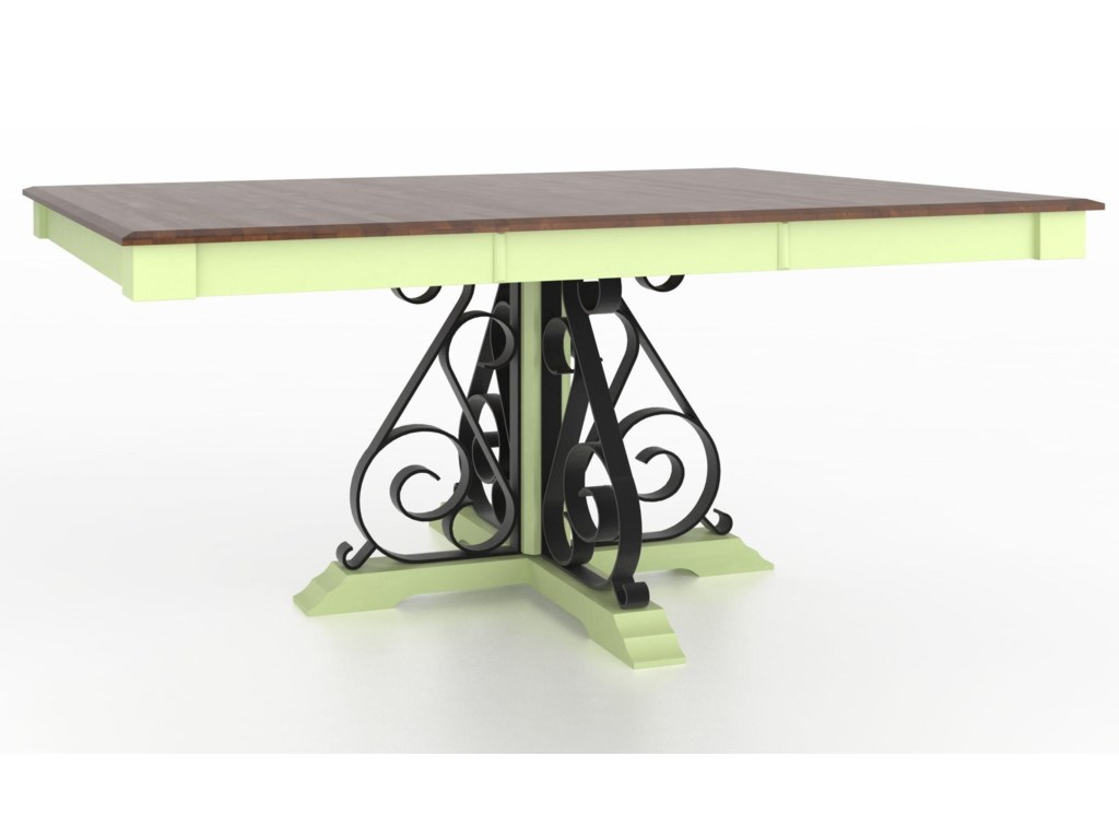 Canadel Custom Dining TablesCustomizable Square Table with Pedestal