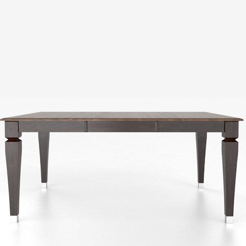 Canadel Custom Dining Tables Customizable Square Table with Legs