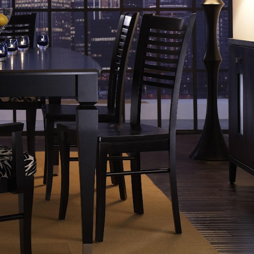 Canadel custom dining contemporary customizable side for B m dining room furniture