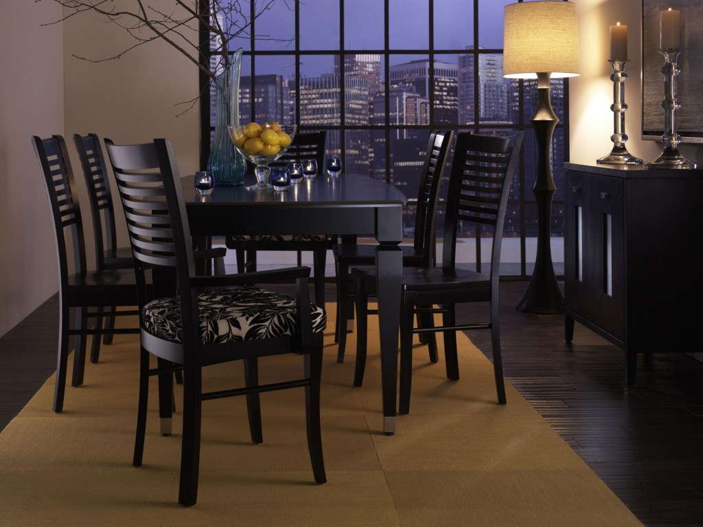 Shown with Table Set. Armchair Fabric Pictured No Longer Available.